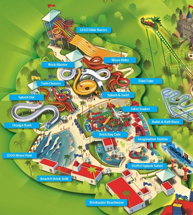 Legolandwaterparkmap