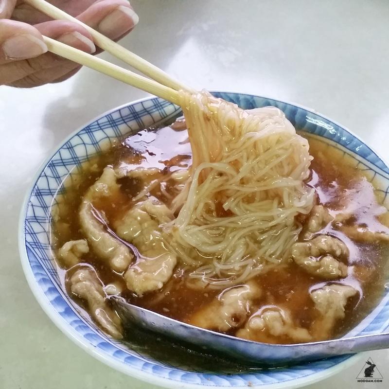 sticky pork noodle yilan