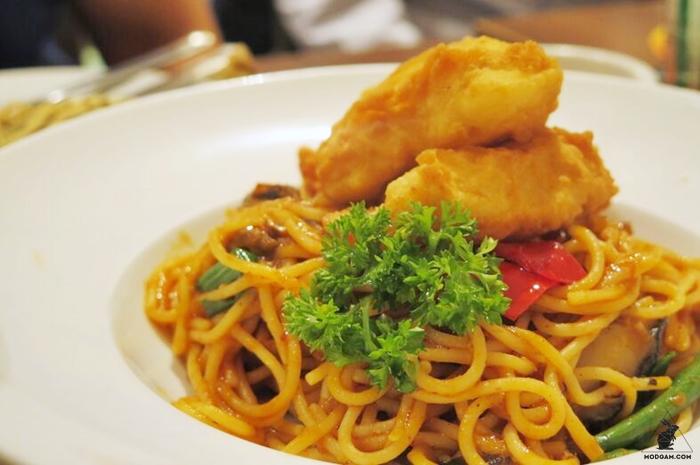 Oriental Chili Fish Pasta